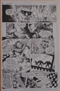 TIMOTHY TRUMAN / TIM BRADSTREET original art, HAWKWORLD #30, Pg #7, 11x17,Signed