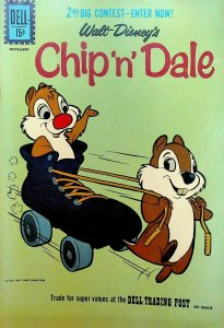 Chip n Dale #27 Dell Comics Walt Disney Roller Skate