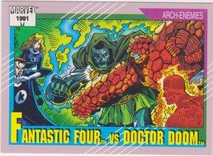 1991 Marvel Universe #124 Fantastic Four vs Doctor Doom