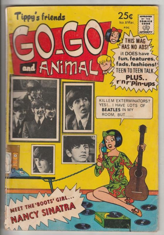 Go-Go And Animal, Tippy's Friends #8 (Mar-68) FN+ Mid-High-Grade Tippy, Animal