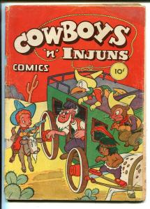 Cowboys 'n' Injuns #1 1946-ME-1st issue-funny animals-western theme-G