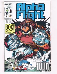 Alpha Flight #65 VF Marvel Comics Comic Book Dec 1988 DE23