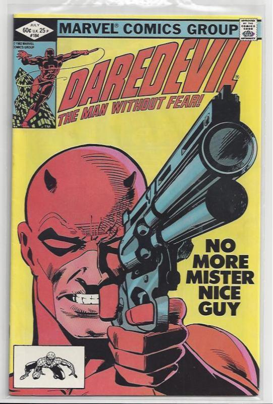 Daredevil #184 Issue with Old School Frank Miller Autograph Elektra Punisher