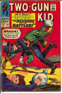 Two-Gun Kid  #88 1967-Marvel-The Rattler-Kid Colt origin-VG