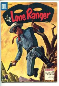 THE LONE RANGER #87-1955-DELL-TONTO-SCOUT-SILVER-SILVER BULLET-vg