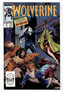 Wolverine #4-VF/NM-Marvel Comic Book-1989