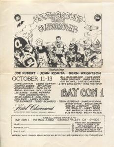 Bay Con 1 Memorabilia Lot-San Francisco Comic History-Gary Arlington-FN