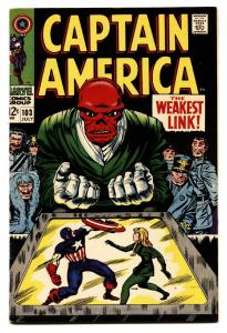 CAPTAIN AMERICA #103 Red Skull-comic book-JACK KIRBY-MARVEL VF