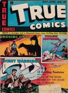 True Comics 49 VG-  1st appearance of Secret Warriors (June. 1946)