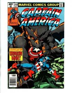 Captain America #240 newsstand - Falcon - 1980 - VF