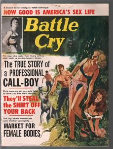 Battle Cry 8/1963-lingerie babes cover-cheesecake-exploitation-VG