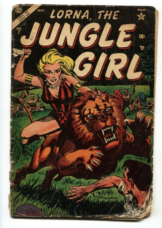 Lorna, The Jungle Girl  #7 1954-Atlas-Good Girl art-Russ Heath cover G-