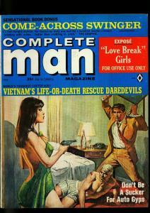 Complete Man Pulp Magazine February 1967- Copeland Gun Moll cover- VF-