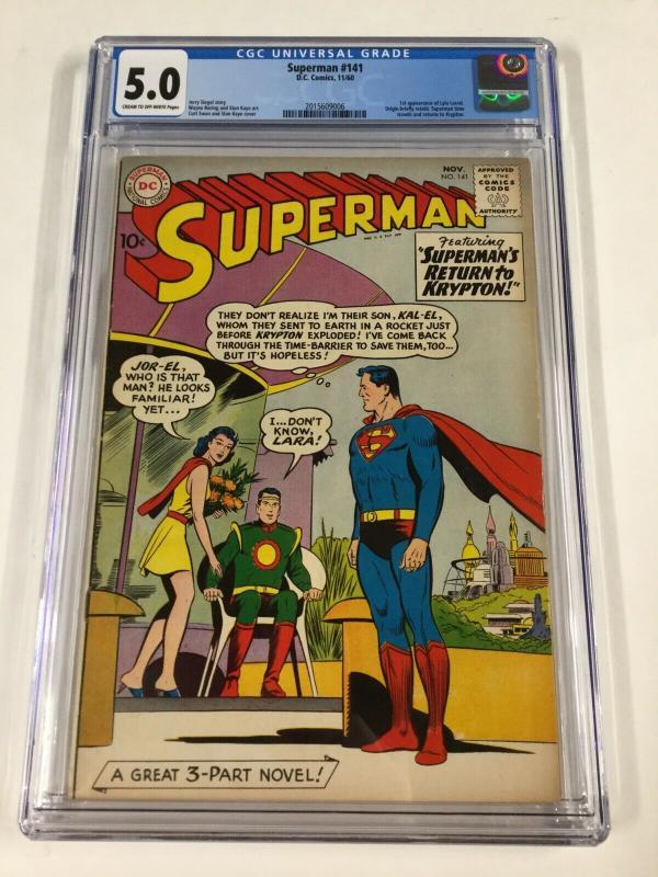 Superman 141 Cgc 5.0 Silver Age Dc Comics 1st Lyla Lerrol