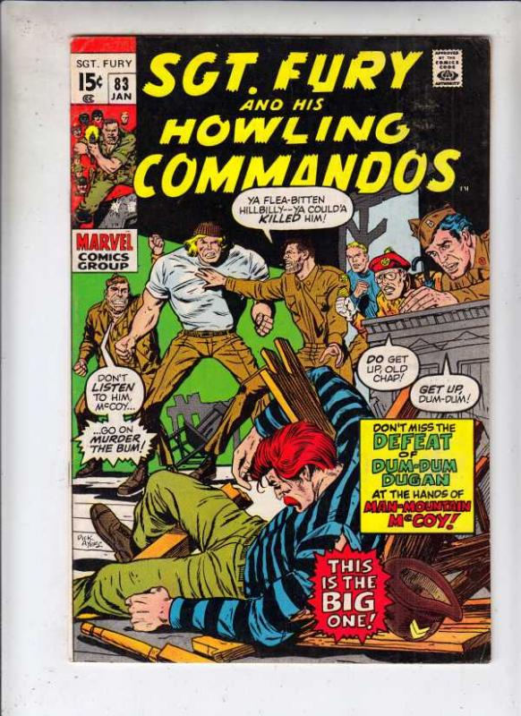 Sgt. Fury and His Howling Commandos #83 (Jan-71) VF High-Grade Sgt. Fury, How...