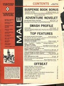 Male 11/1968-Atlas-Pussycat-Bill Ward-Emmett Kaye cycle girl cover-cheesecake-FN