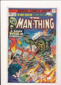 Marvel The Man-Thing-#17  FINE/VERY FINE (SIC286)