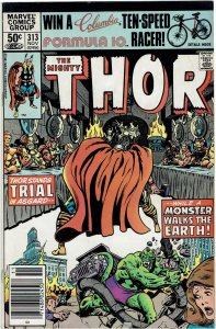 Thor #313 (1966 v1) Odin Balder Loki Newsstand VF-