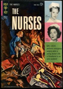 THE NURSES #3 1963-GOLD KEY COMICS-CAR CRASH COVER-TV SERIES-VG
