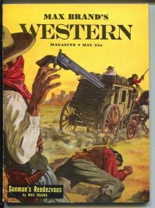 Max Brand's Western 5/1951-Popular Pubs-stagecoach-western pulp thrills-FN