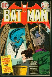 BATMAN #250-1973-DC-WOMAN TIED UP ON COVER-very good VG
