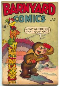Barnyard #15 1947- Canadian edition- Frazetta text illustrations VG-