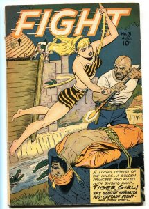 FIGHT #51-1947-TIGER GIRL-MATT BAKER-ORIGIN STORY-FICTION HOUSE-vg