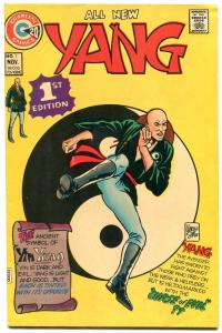 Yang #1 1973- Charlton Comics- Martial Arts superhero VF-