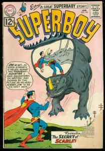 SUPERBOY COMICS #102 1963-DC COMICS-WILD MONSTER COVER G-