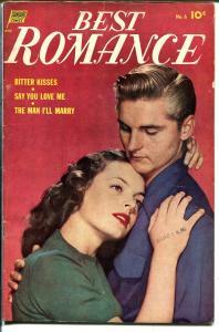 Best Romance #6 1952-Standard-terrific art-photo cover-FN-