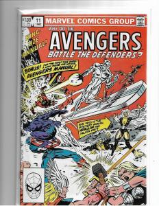 AVENGERS ANNUAL#11 - NM - DEFENDERS X-OVER - SILVER SURFER - BRONZE AGE KEY