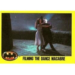 1989 Batman The Movie Series 2 Topps FILMING THE DANCE MACABRE #249