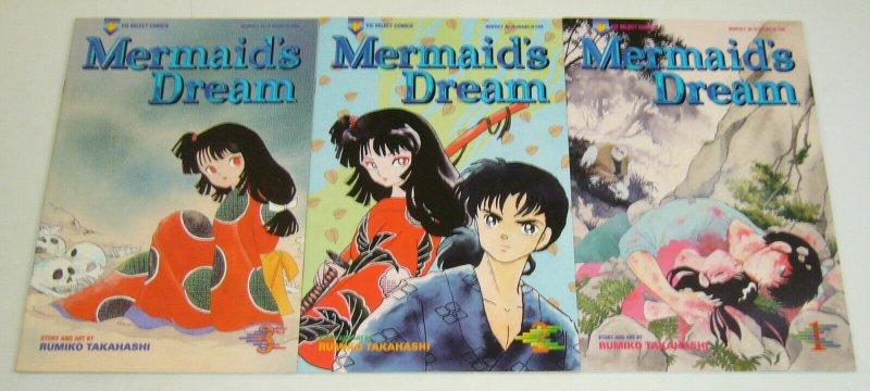 Mermaid's Dream #1-3 VF/NM complete series - viz manga - rumiko takahashi set 2