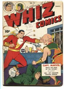WHIZ COMICS #72-1946-CAPTAIN MARVEL-Golden Age incomplete