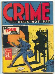 Crime Does Not Pay #42 1945- Electric Chair cover- classic issue VG