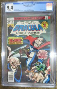 TOMB OF DRACULA #58 CGC 9.4 ALL BLADE ISSUE! Wolfman/Colan/Palmer! White pages