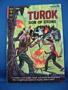 TUROK SON OF STONE 34 VG  Fine  1963  Dinosaurs