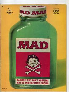 Mad-Magazine-#125-1969-Mort Drucker-Don Martin-David Berg-Comic