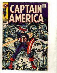 Captain America # 107 FN Marvel Comic Book Avengers Hulk Thor Iron Man GK2
