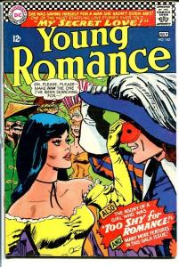 YOUNG ROMANCE #142 1966-DC ROMANCE-MASK COVER FN/VF