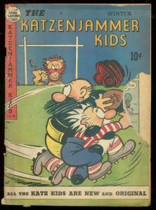 KATZENJAMMER KIDS #7 1949-FOOTBALL COVER-SLAPSTICK ART FR/G