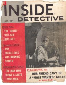 Inside Detective 10/1961-crime stories with photos-photo cover-FR