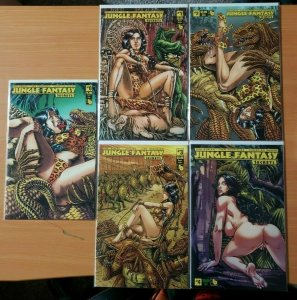 Jungle Fantasy Secrets 0 + 1-4 Queen Sasha VARIANT Complete Set Run! ~ NM