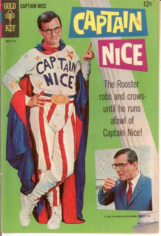 CAPTAIN NICE 1 FINE 1967 COMICS BOOK