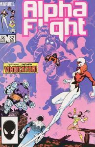 Alpha Flight (1st Series) #32 VF; Marvel | save on shipping - details inside