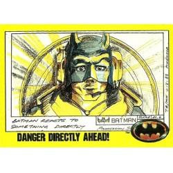 1989 Batman The Movie Series 2 Topps DANGER DIRECTLY AHEAD #205