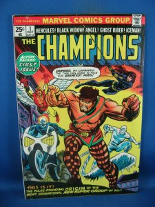 THE CHAMPIONS 1 F VF FIRST ISSUE BLACK WIDOW 1975