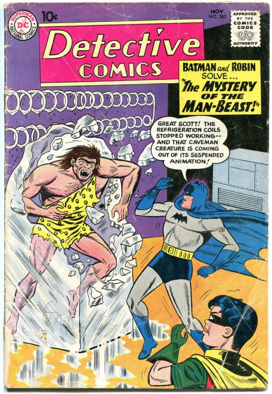 DETECTIVE COMICS #285, GD, Bob Kane, Caped Crusader, 1937 1960, more in store