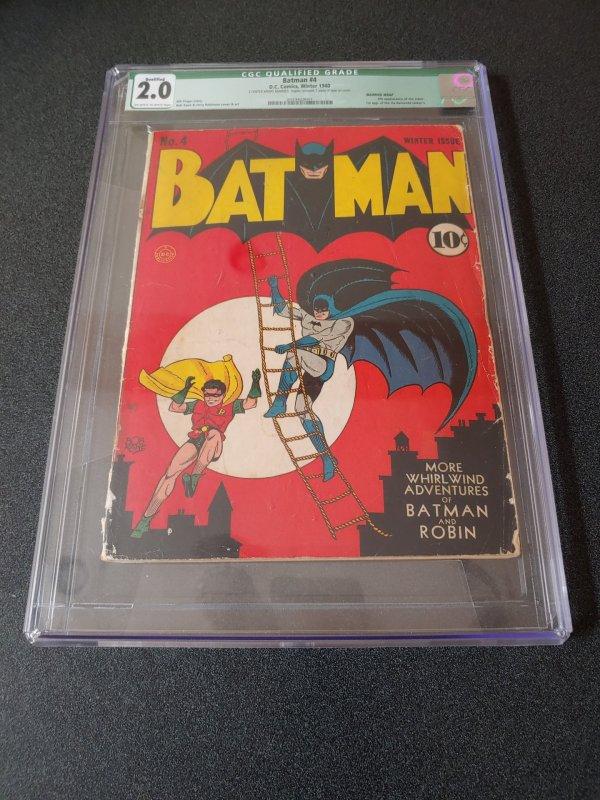 BATMAN #4 CGC 2.0 4TH APPEARANCE OF THE JOKER
