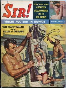Sir Magazine January 1960-VIRGIN AUCTION-DECAPITATION ART- VG